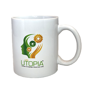 Cafe Utopia White Mug