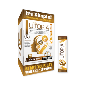Café UTOPIA™ Cocoa Stick Pack Box